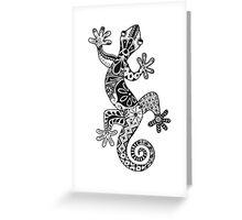 Black and White Lizard Design Greeting Card