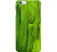 Green Handmade Watercolor Texture iPhone Case/Skin