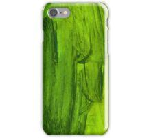 Green Handmade Watercolor Texture iPhone Case/Skin