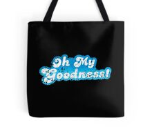 Oh my goodness! in blue distressed Tote Bag