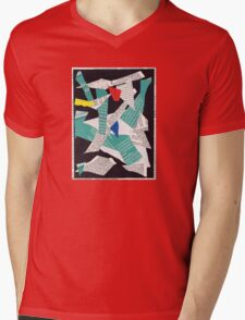 Collage abstract multicolor 3232 Mens V-Neck T-Shirt