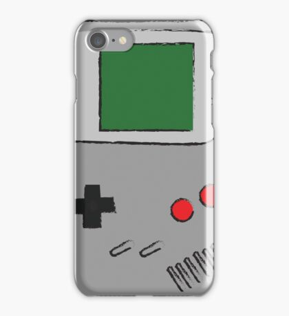 Classic Gameboy Sketch iPhone Case/Skin