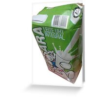 Caixa de leite aberta de forma errada Greeting Card