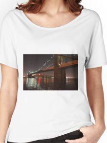 Brooklyn Bridge At Night Women's Relaxed Fit T-Shirt