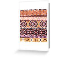 Navajo colorful  tribal pattern  Greeting Card