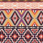 Navajo colorful  tribal pattern  by tomuato