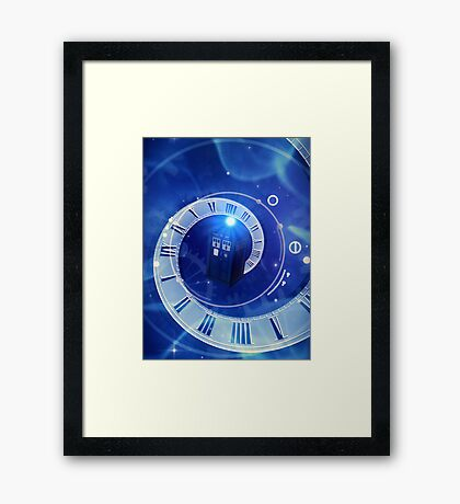 Police Box Time Travel Framed Print