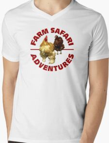Farm Safari Adventures Mens V-Neck T-Shirt