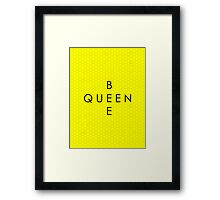 """Queen Bee"" with Honeycomb Background Framed Print"