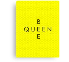 """Queen Bee"" with Honeycomb Background Canvas Print"