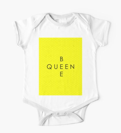 """""""Queen Bee"""" with Honeycomb Background One Piece - Short Sleeve"""