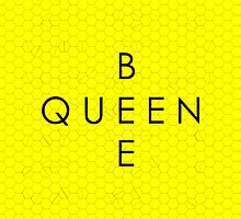 """""""Queen Bee"""" with Honeycomb Background by Haley Marshall"""
