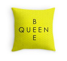 """""""Queen Bee"""" with Honeycomb Background Throw Pillow"""