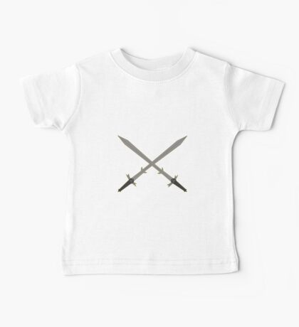 Crossed Great Swords Inspired by Dungeons and Dragons Baby Tee