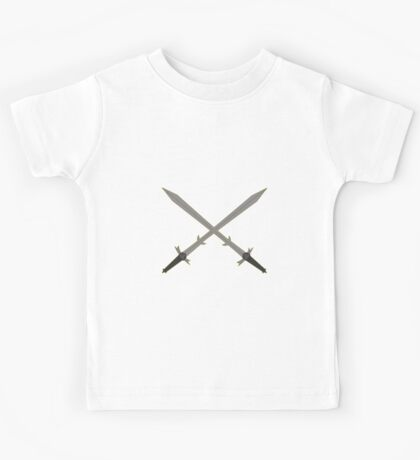 Crossed Great Swords Inspired by Dungeons and Dragons Kids Tee