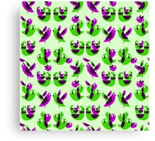 Cheerful Chattering Chickies - Tiled! Canvas Print