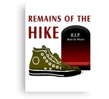 Remains Of The Hike Canvas Print