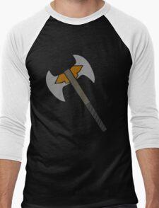 Minimal Battle Axe Design Men's Baseball ¾ T-Shirt