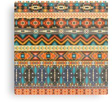 Colorful  tribal pattern with geometric elements Metal Print