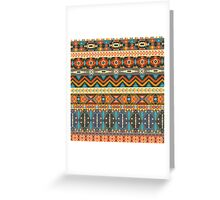 Colorful  tribal pattern with geometric elements Greeting Card