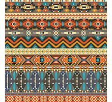 Colorful  tribal pattern with geometric elements Photographic Print