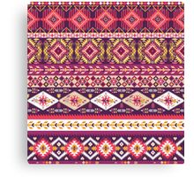 Navajo colorful  tribal pattern with geometric elements Canvas Print