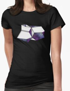 Space Folded Womens Fitted T-Shirt