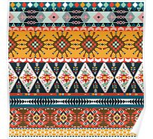 Seamless colorful  native american pattern  Poster