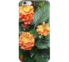 Orange Tropical Flowers iPhone Case/Skin