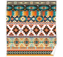 Navajo pattern with geometric elements  Poster