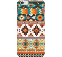 Navajo pattern with geometric elements  iPhone Case/Skin