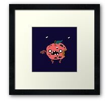 Apple Zombie Food Edition Framed Print
