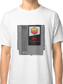 Firey Red d20 RPG Player NES cartridge Classic T-Shirt