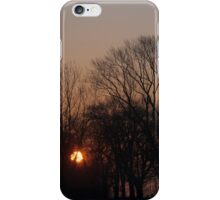 Sunrise Walk Through the Park iPhone Case/Skin