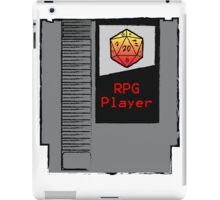 Firey Red d20 RPG Player NES cartridge iPad Case/Skin