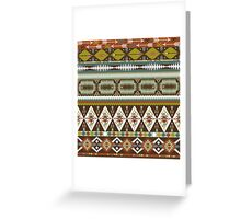 Aztec pattern with geometric elements Greeting Card