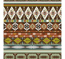 Aztec pattern with geometric elements by tomuato