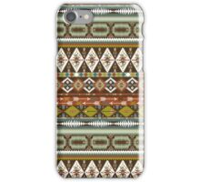 Aztec pattern with geometric elements iPhone Case/Skin