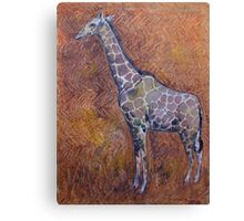 Safari Giraffe Painting Canvas Print
