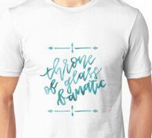 Throne of Glass Fanatic - cyan foil Unisex T-Shirt