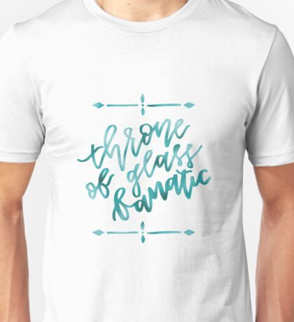 Throne of Glass Fanatic - cyan foil Unisex T-Shirt