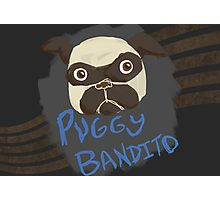 Puggy Bandito Photographic Print