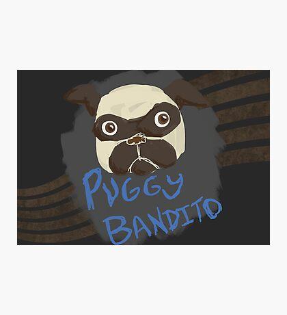 Puggy Bandito Photographic Print