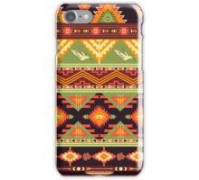 Seamless colorful aztec pattern with birds and arrow iPhone Case/Skin