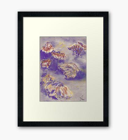 Plein Air Shrooms (pastel) Framed Print