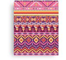 Aztec geometric seamless pattern Canvas Print