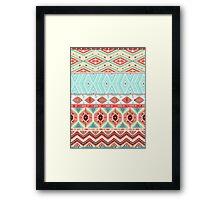 Aztec geometric seamless pattern Framed Print