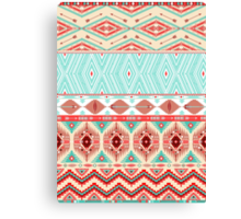 Aztec geometric seamless pattern Canvas Print