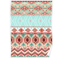 Aztec geometric seamless pattern Poster