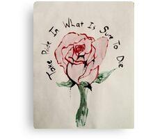 Twenty One Pilots Truce rose Canvas Print